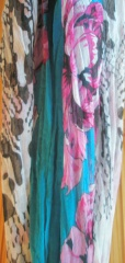 Pink and Teal Scarf