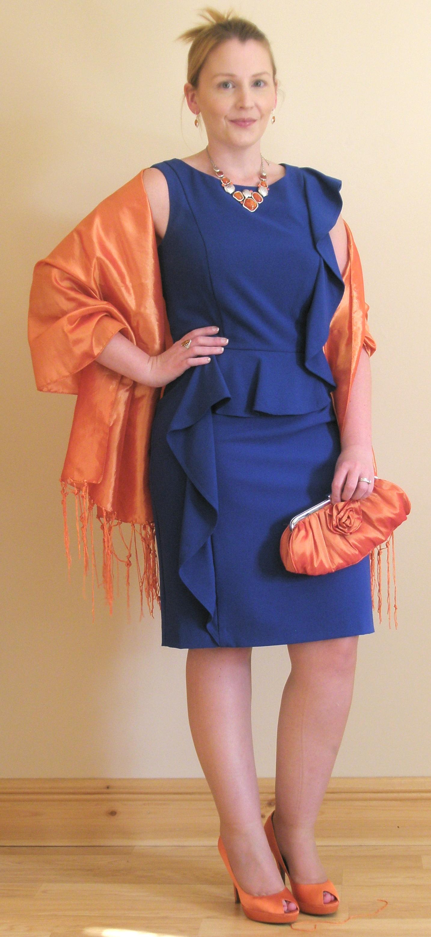 Blue dress orange shoes images | Fashion dresses lab