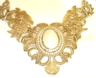 Gold Filigree Statement Necklace
