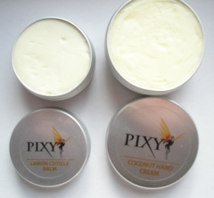 Pixi Coconut Hand Cream and Lemon Cuticle Balm