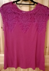 Vero Moda Pink Lace Top