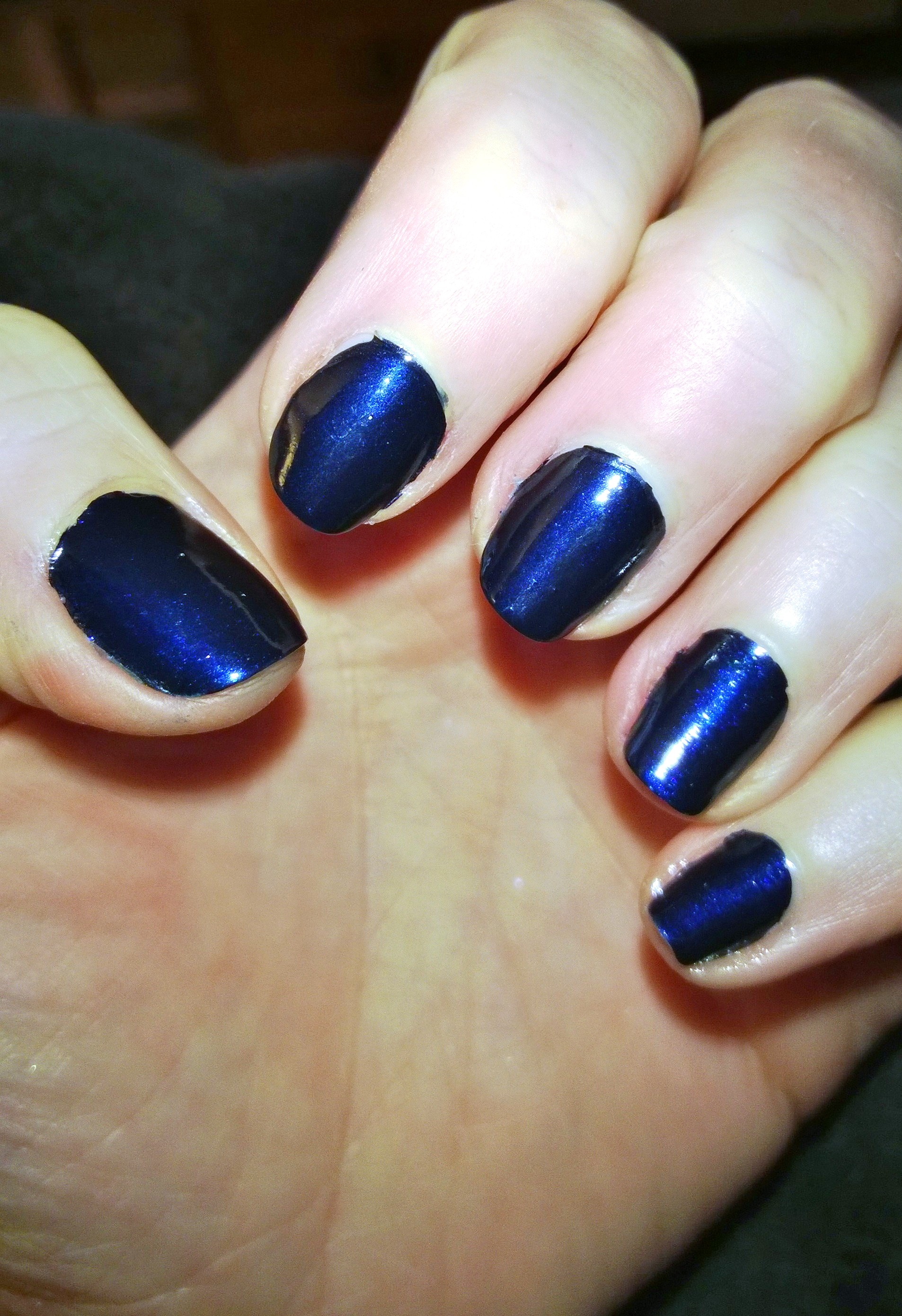 metallic blue gel nail polish