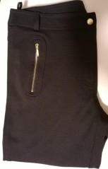 Dorothy Perkins Gold Zips Black Trousers