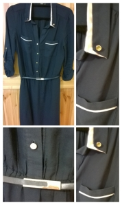 Navy Oasis Shirt Dress