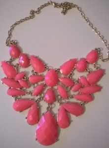 Coral Penneys Statement Necklace