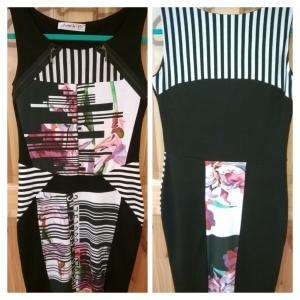 Jaime La Vie Floral and Barcode Dress
