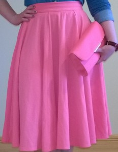 Pink Closet Midi Skirt