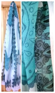 Penneys Teal and Blue Scarf