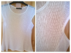 Penneys White Open Knit Top