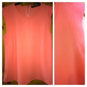 Penneys Peach Textured Top