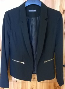 Penneys Black Blazer with Gold Zips