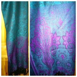 Purple and Teal Pashmina