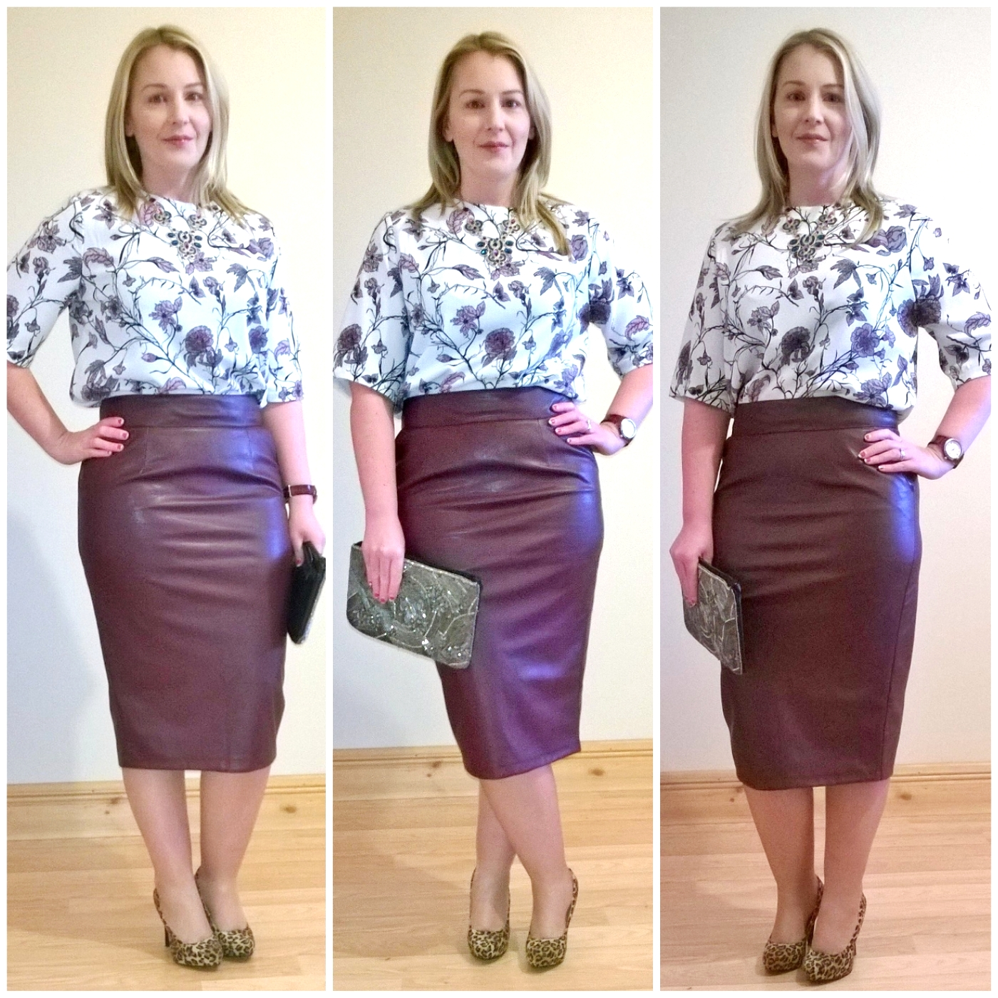faux leather pencil skirt | Ah Sure Tis Lovely