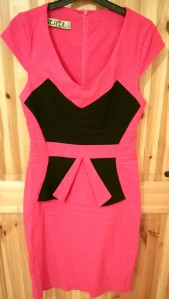 Vesper Pink Peplum Dress