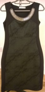 Black Jaime La Vie Dress with Jewelled Neck
