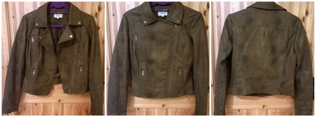 Linea Brown Biker Jacket