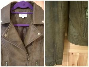 Linea Brown Biker Jacket