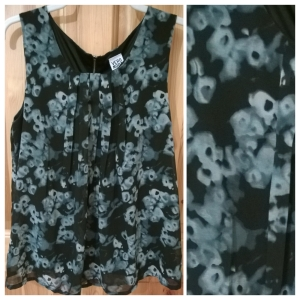 Vero Moda Gray Floral Top