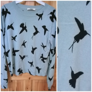 Oasis Mint Bird Print Jumper
