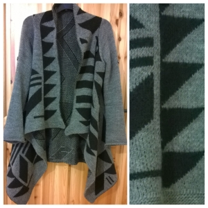 iclothing Aztec Print Waterfall Cardigan