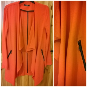 Dunnes Orange Long Line Waterfall Blazer