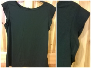 New Look Black Crepe Ruffle Sleeve Top