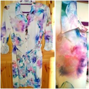 River Island Floral Shirt Dress