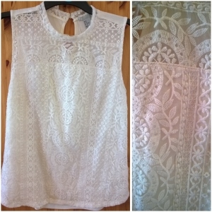 H &  M Lace Detail Top